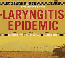 NASCAR Print Add Laryngitis